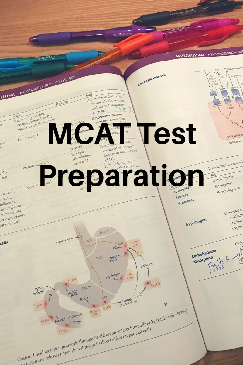 MCAT test preparation