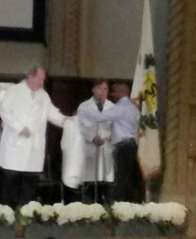 Student Doctor Spears at White Coat Ceremony